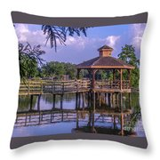 Lafreniere Gazebo Throw Pillow by Renee Barnes