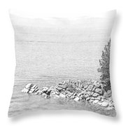 Lake Tahoe Rocky Point Throw Pillow