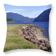 Lakes 3 Throw Pillow