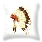 Lakota Headdress Throw Pillow