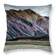 Landmannalaugar Iceland Throw Pillow