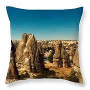 Landscape With The Caves And Fairy Throw Pillow