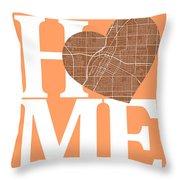 Las Vegas Street Map Home Heart - Las Vegas Nevada Road Map In A Throw Pillow