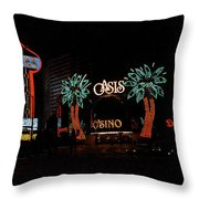 Las Vegas With Watercolor Effect Throw Pillow