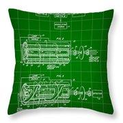 Laser Patent 1958 - Green Throw Pillow