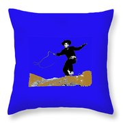 Lash Larue Bull Whip Publicity Photo Throw Pillow