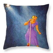 Latina Jazz Diva Throw Pillow