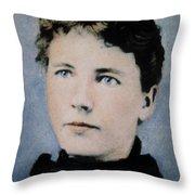 Laura Ingalls Wilder (1867-1957) Throw Pillow