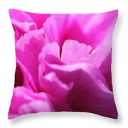 Lavender Carnation Throw Pillow