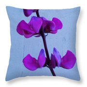 Lavender Flowers Throw Pillow
