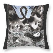 Leda And The Swan Throw Pillow