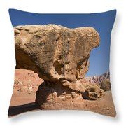 Lees Ferry Rock Formation Arizona Throw Pillow