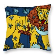 Leo Constellation Zodiac Sign Throw Pillow by Science Source
