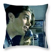 Leo Johnson Are You Telling Me There's No Santa Claus Throw Pillow