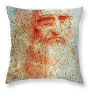 Leonardo Da Vinci (1452-1519) Throw Pillow