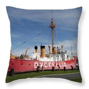 Light Vessel Overfalls Throw Pillow
