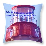 Lighthouse At Cape May Throw Pillow