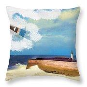 Lighthouse At Whitehaven Throw Pillow