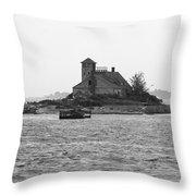Lighthouse Island - Portland Maine Throw Pillow