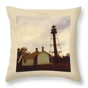 Lighthouse Landscape Throw Pillow