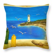 Lighthouse View Throw Pillow