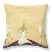 Lilies Of The Field Throw Pillow