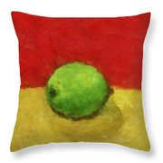 Lime With Red And Gold Throw Pillow
