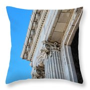Lincoln County Courthouse Columns Looking Up 02 Throw Pillow