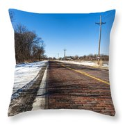 Lincoln Highway Throw Pillow