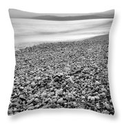 Little Stones At The Silver Sea Throw Pillow