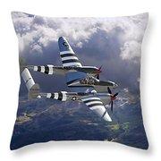 Lockheed P-38 Lightning Throw Pillow