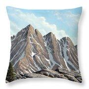 Lofty Peaks Throw Pillow