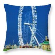 London Eye Westminster Bridge Throw Pillow
