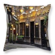London Pub Throw Pillow