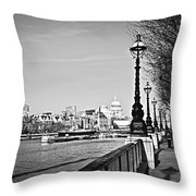London View From South Bank Throw Pillow
