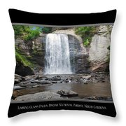 Looking Glass Falls North Carolina Throw Pillow