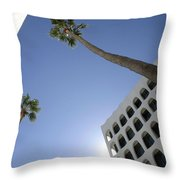 Looking Up In Beverly Hills Throw Pillow