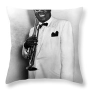 Louis Armstrong (1900-1971) Throw Pillow by Granger