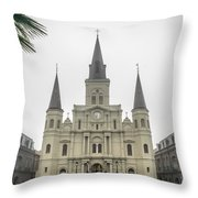 Louis Cathedral Throw Pillow