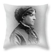 Louisa May Alcott (1832-1888) Throw Pillow