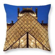 Louvre Pyramid Throw Pillow