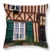 Low Angle View Of Houses Throw Pillow