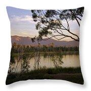 Lower Otay Lake - California Throw Pillow