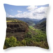 Lower Waimea Canyon Throw Pillow
