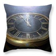 Macro Antique Watch Midnight Throw Pillow