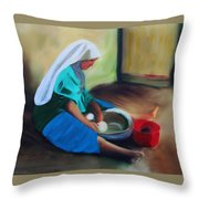 Making Bread Throw Pillow