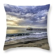 Malibu Winter Throw Pillow