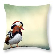 Mandarin Duck Throw Pillow