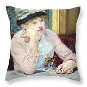 Manet's Plum Brandy Throw Pillow