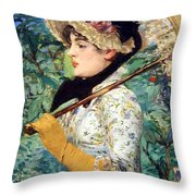 Manet's Spring Throw Pillow